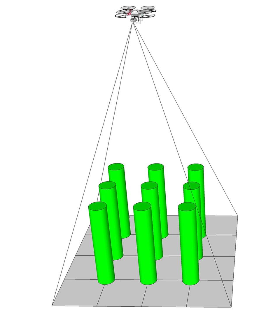 土木事業_ドローン_空中測量写真_測量精度_空中からの撮影イメージ